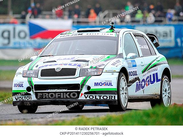 Racing driver Juha Kankkunen of Finland pictured during the exhibition car Race of champions in autodrom Sosnova, Ceska Lipa, Czech Republic, November 23, 2014