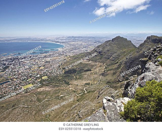 View from top of Table Mountain, Cape Town, South Africa - January 8, 2013