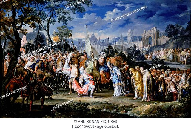 'Entry of Alexander the Great into Babylon', 331 BC, (18th century). The city of Babylon (now in modern-day Iraq) surrenders to Alexander the Great (356-323 BC)