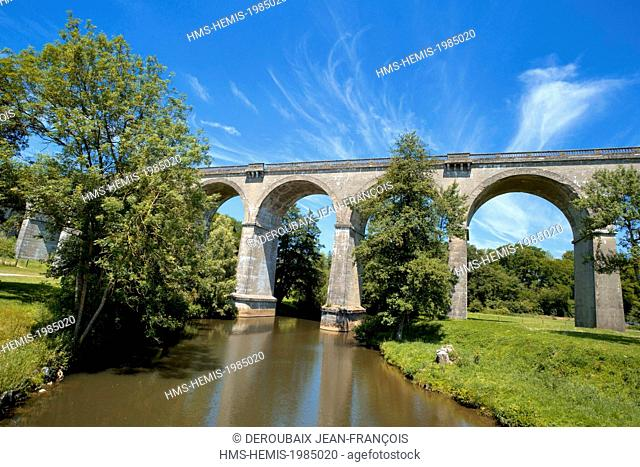 France, Aisne, Ohis, Ohis viaduct over the Oise river