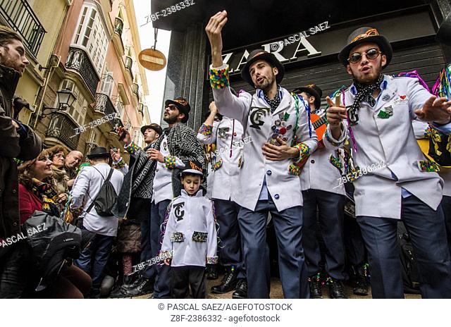 Feb.16, 2015 - Cádiz, Spain - The Cádiz carnival is underway. Carnival has a long tradition in the city of Cádiz. The celebrations last 2 weeks each year in...