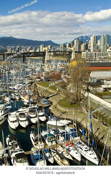 Granville Island, Burrard Bridge, West End of downtown Vancouver, British Columbia, Canada