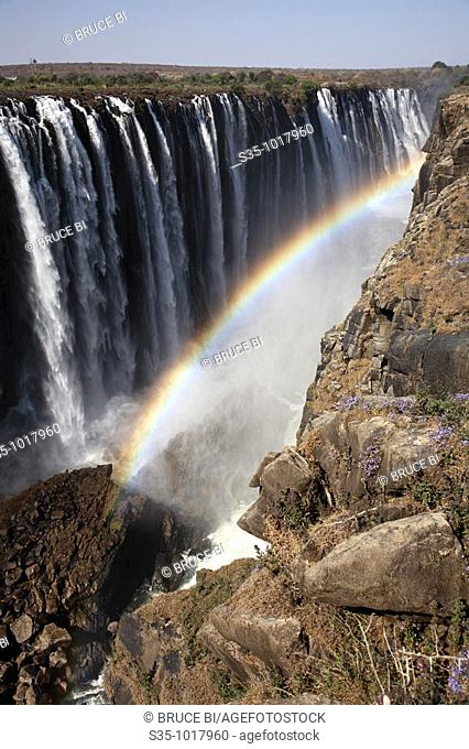 The view of Victoria Falls from Zimbabwe side
