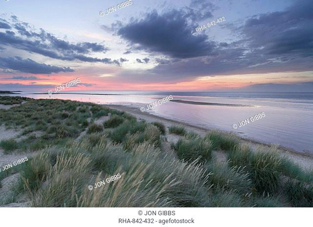 A view of Holkham Bay, Norfolk, England, United Kingdom, Europe