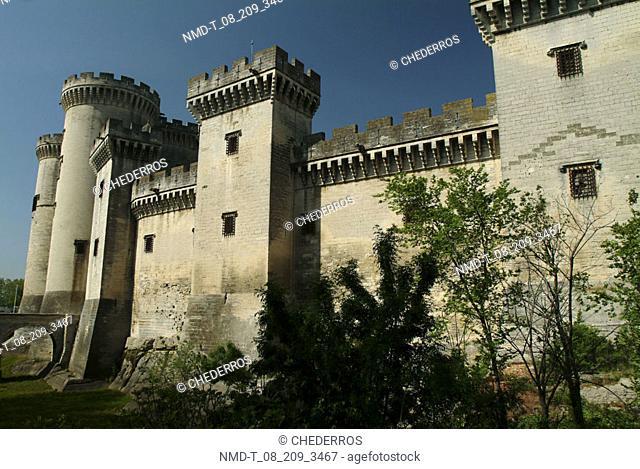 Low angle view of a castle, La Cite de Carcassonne, Provence, France
