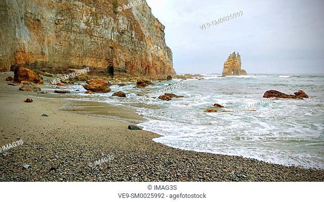 Portizuelo beach, Luarca, Valdés municipality, Asturias, Spain