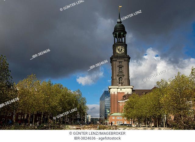 St. Michael's Church, Hauptkirche Sankt Michaelis, colloquially called Michel, Hamburg, Germany