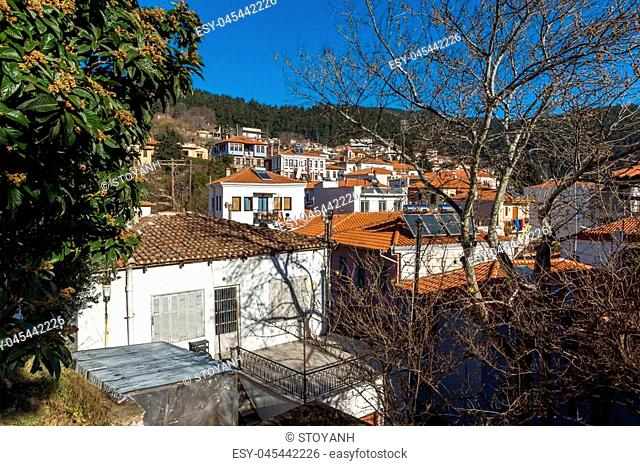 Panoramic view of old town of Xanthi, East Macedonia and Thrace, Greece