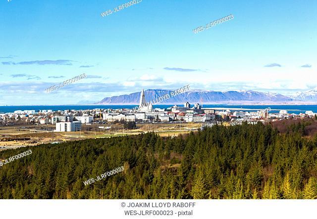 Iceland, Reykjavik, city view