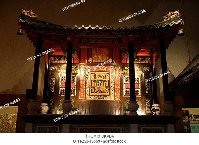 Stage of chinese opera exhibited in Hong Kong Heritage Museum, Shatin, Hong Kong