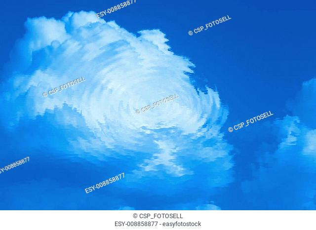 abstract background - reflection of clouds
