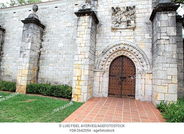 main entrance to the Spanish Monastery in Miami, Florida, USA