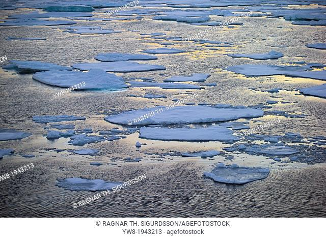 Pancake Ice-North Atlantic Ocean