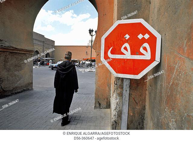 Stop sign, Marrakech