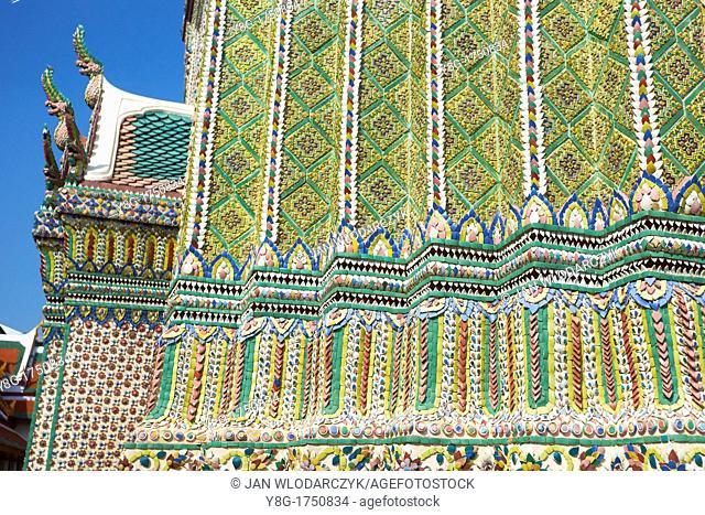 Thailand - Bangkok, Grand Royal Palace, Wat Phra Kaeo, decorative details
