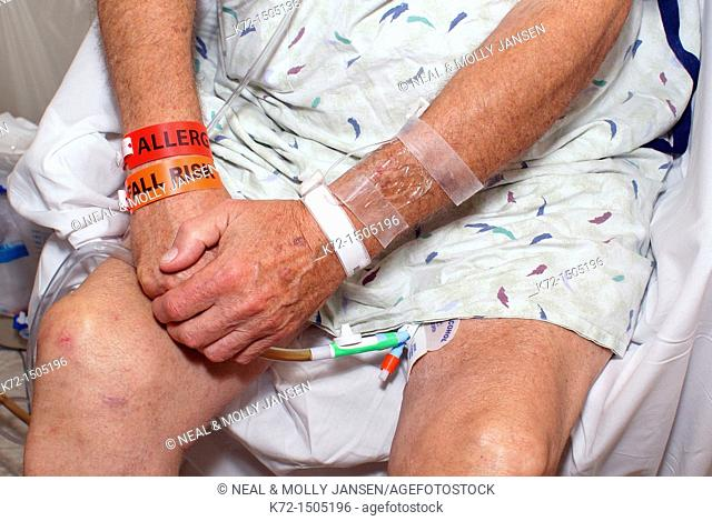 Hospital Patient Wrist Bands and Catheter