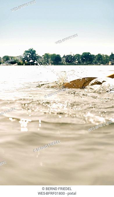 Oar in water