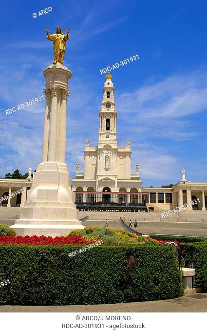 Fatima Column, Sanctuary of Our Lady of Fatima, Fatima, Portugal / Basilica of Our Lady of the Rosary, Santuario de Fatima