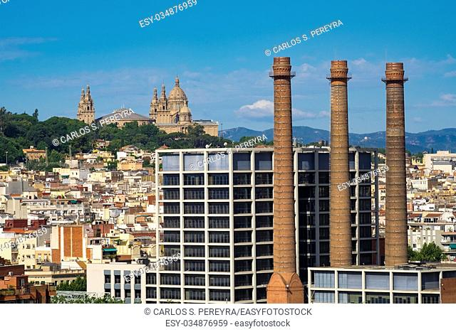 View of MUNAC National Museum of Art of Catalonia in Monjuic mountain Barcelona Catalonia Spain