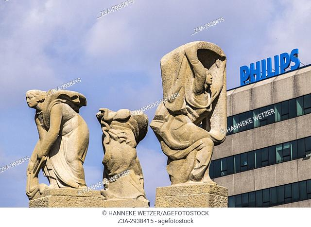 Panta Rhei sculpture by Hubert van Lith, Eindhoven, The Netherlands, Europe