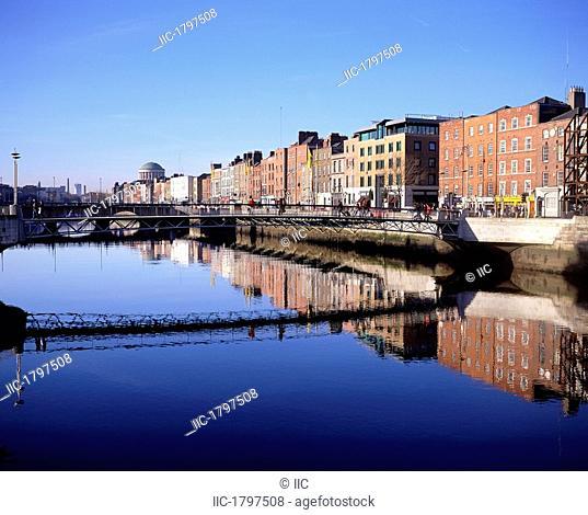 Bridge Across A River, Ha'penny Bridge, Dublin, Northern Ireland