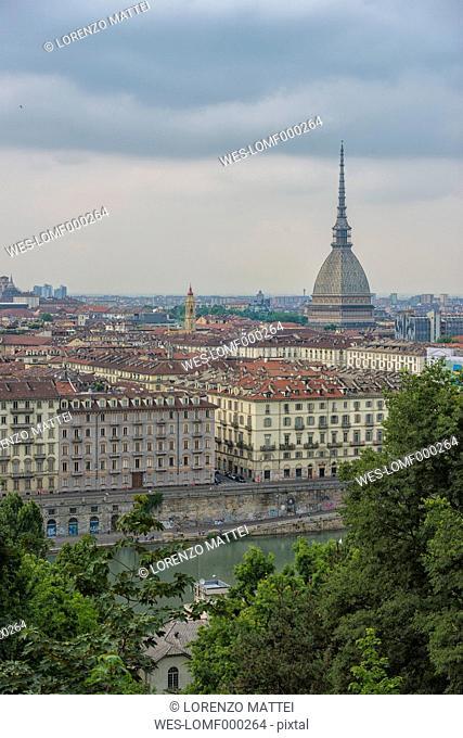 Italy, Piemont, Turin, Cityscape with Mole Antonelliana