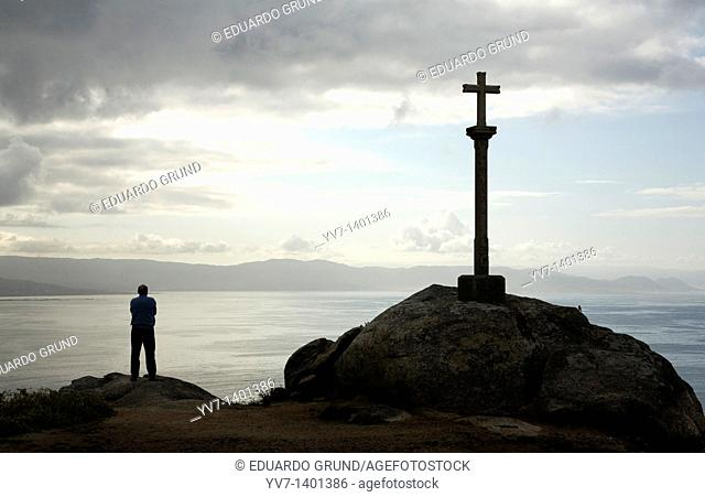 Cross in Finisterre's Lighthouse  Fisterra, Coruña, Galicia, Spain