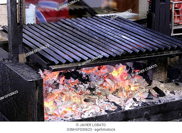A view of the grill at Urrechu's Restaurant