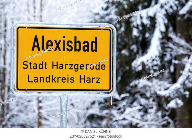 Ortseingang Alexisbad Landkreis Harz