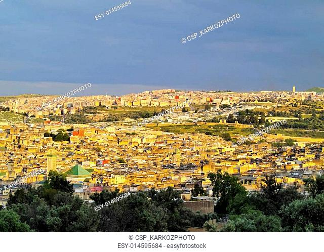 Cityscape of Fes, Morocco
