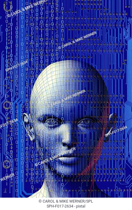 Artificial intelligence, conceptual illustration