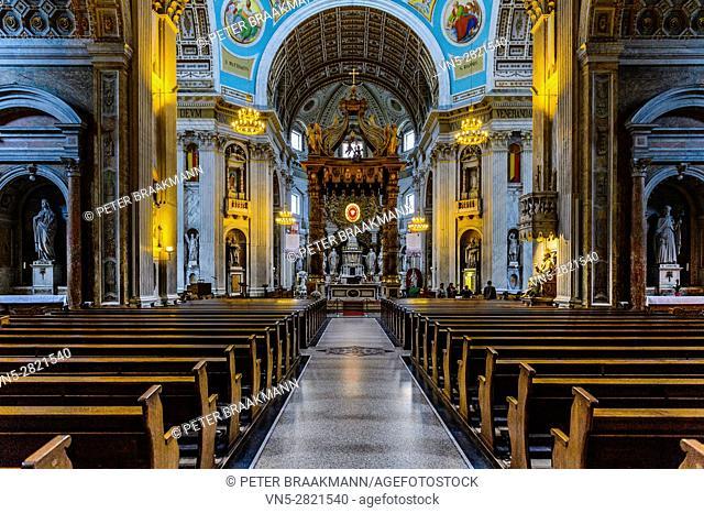 OUDENBOSCH - THE NETHERLANDS NOVEMBER 1: Interior Basilica of H. H. Agatha and Barbara on November 1, 2013 in Oudenbosch
