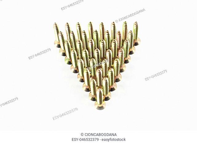 Wood fastening screws
