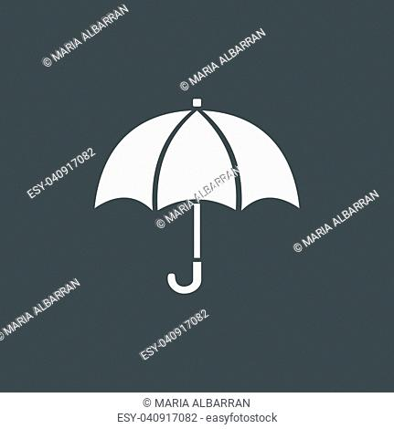 Isolated umbrella icon on a dark background