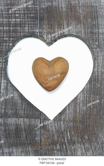 Board with a heart