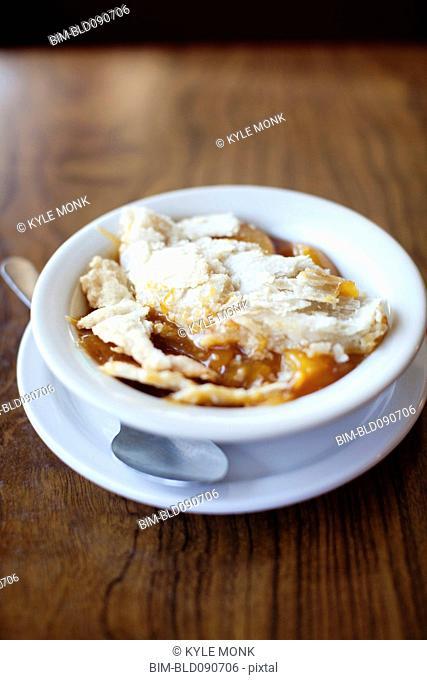 Fruit cobbler in bowl