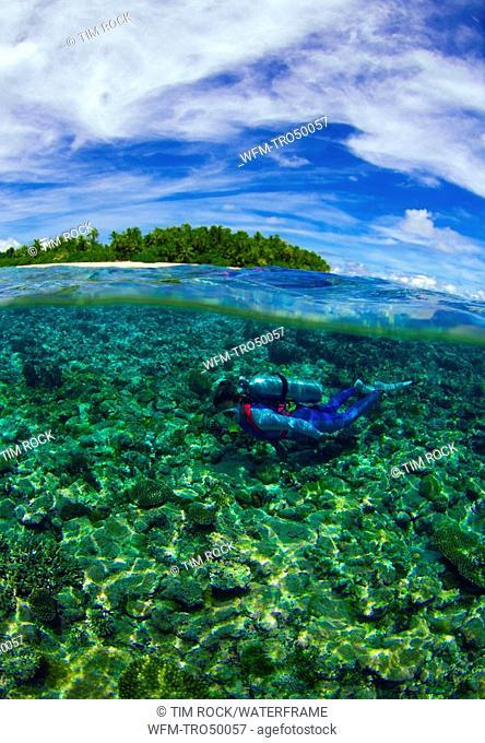 Diving at Reef Top, Ngulu Atoll, Caroline Islands, Pacific, Yap, Micronesia