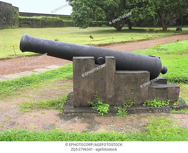 Canon at St. Angelo Fort, Kannur, Kerala, India