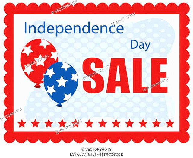 independence day sale banner Vector Illustration
