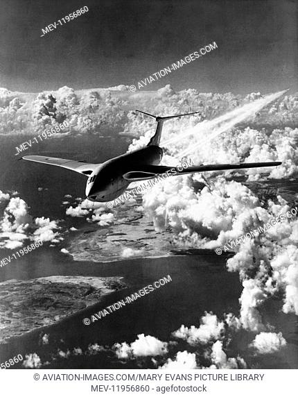 RAF Handley Page Hp-80 Victor flying above cloud