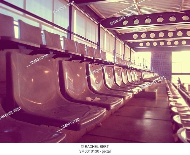 Bleachers in a sports hall