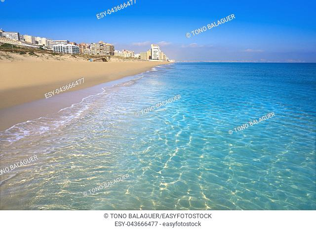 Arenals del Sol Beach in Elche Elx of Alicante in Costa Blanca at Spain