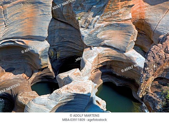 South Africa, province of Mpumalanga, national park, Blyde River canyon pool, Bourke `see Luck Potholes