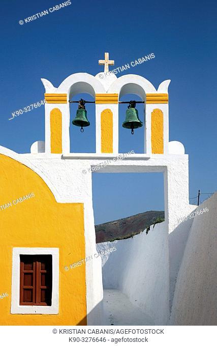 Church in Oia, Santorin, Greece, Europe