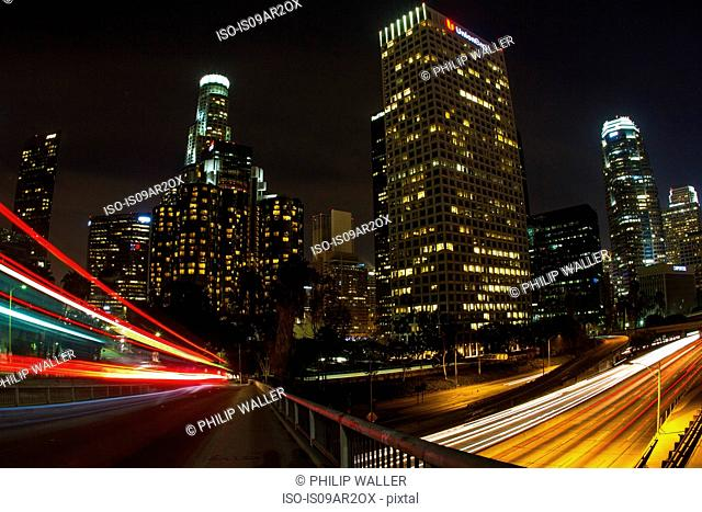 Downtown Los Angeles, long exposure, California, USA