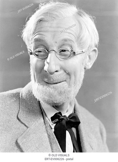 Man with beard and glasses making a silly face All persons depicted are not longer living and no estate exists Supplier warranties that there will be no model...