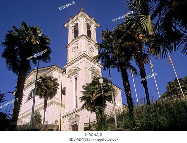 Church San Carlo Magadino Riviera del Gambarogno Canton Ticino Switzerland