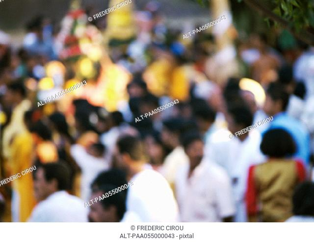 Crowd, blurred