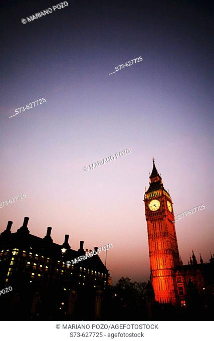 House of Parliament and Big Ben, London, England