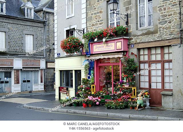 Europe,France,Bretagne,Brittany Region,Combourg, Street, Typical Shop